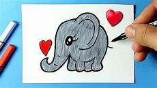como desenhar elefante fofo e bonito kawaii desenhos