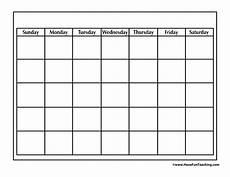 Free Blank Calendar Pages Blank Calendar Have Fun Teaching