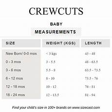 J Crew Mens Shirt Size Chart Crewcuts Size Chart Baby Clothes Size Chart Baby