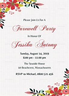 Farewell Invitation Email Classic Farewell Party Invitation Design Template In Word