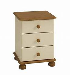 steens richmond and antique pine 3 drawer bedside