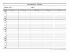 Conference Room Scheduling Template 6 Conference Room Schedule Templates Excel Templates