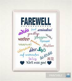 Free Printable Farewell Card For Colleague Goodbye Gift Going Away Gift Goodbye Print Farewell Print