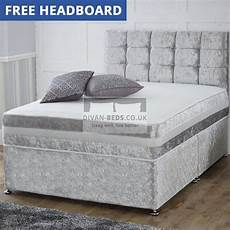 crushed velvet divan bed with 1500 pocket