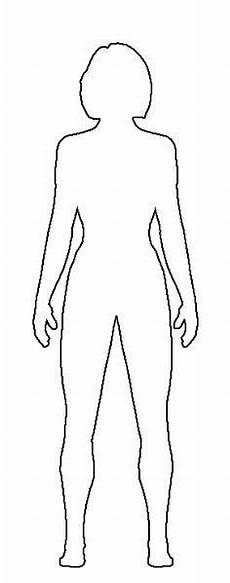 Outline Of A Female Body Template Image Result For Blank Body Template Body Template