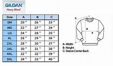 Gildan 5400 Size Chart Pvn Gildan Heavy Blend 50 50 Fleece Crewneck Schoolwear Ca