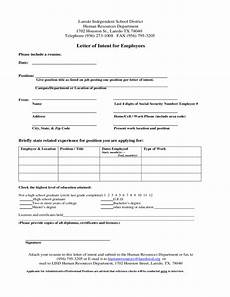 Sample Letter Of Intent To Hire Employee Letter Of Intent For Employees Free Download