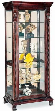 coaster curio cabinets 4715 6 shelf rectangular curio