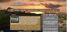 Minecraft Server Website Template Free Minecraft Website Template Art Shops Shops And
