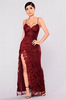 a in tokyo lace dress burgundy
