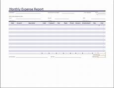 Excel Monthly Expense Template Ms Excel Monthly Expense Report Template Word Amp Excel