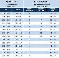 Crocs Size Chart J2 Crocs Size Chart Sole Central