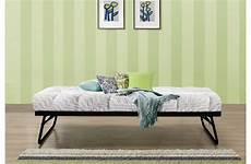 birlea lyon 3ft single black metal day beds with trundle