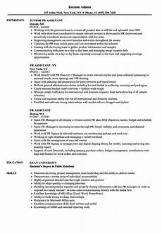 Public Relations Assistant Resume Pr Assistant Resume Samples Velvet Jobs