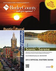 Butler Freeport Trail Mileage Chart 2012 Butler County Pa Tourism Visitors Guide By Visit