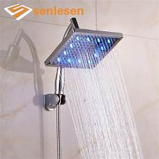 Wall Mounted Shower Lights Senlesen Newly Product Plastic Led Light Shower Head With
