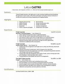 Example Of Sales Resumes Best Sales Freight Associate Resume Example From