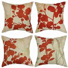 Sofa Pillows 18x18 Set Of 4 3d Image by Wendana Floral Decorative Pillow Covers For Sofa Set