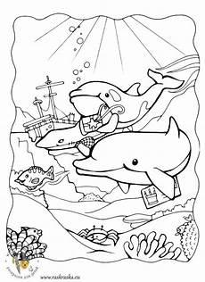 ausmalbilder delfine kostenlos malvorlagen zum