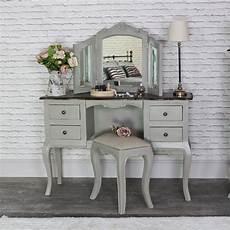 large vintage grey pedestal dressing table mirror