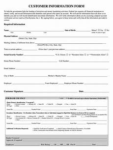 Customer Contact Information Template Customer Information Form Fill Online Printable