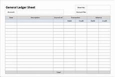 Credit Card Balance Sheet Template General Ledger Sheet Template Double Entry Bookkeeping