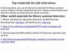 Library Interview Questions And Answers Top 52 Library Assistant Interview Questions And Answers Pdf