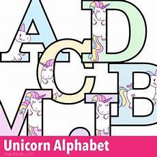 Alphabet Letters Printable Unicorn Letters To Print Free Printable Alphabet Make
