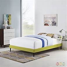 sherry upholstered fabric platform bed frame wheatgrass