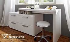 luxury modern day white dressing table with mirror and