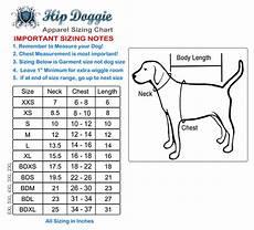 Hip Doggie Size Chart Sizing Charts Hip Doggie