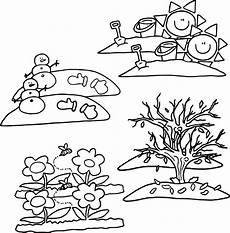 4 seasons coloring page wecoloringpage