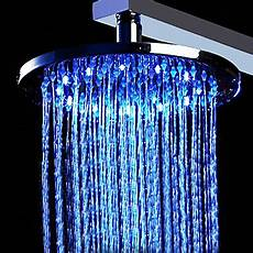 Shower Head With Lights 12 Inch Brass Shower Head With Color Changing Led Light