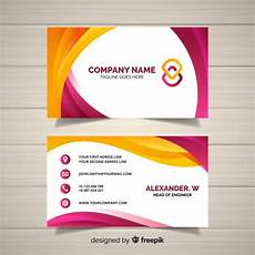Sample Calling Card Format Business Card Template Free Vector
