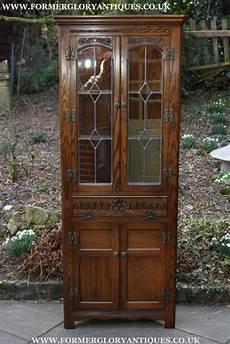 Light Oak Corner Display Cabinet Old Charm Light Oak Corner Cabinet Display Cupboard For