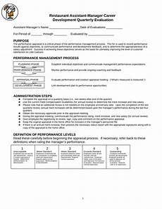 Restaurant Evaluation Form Free 7 Restaurant Employee Evaluation Forms In Pdf Ms Word