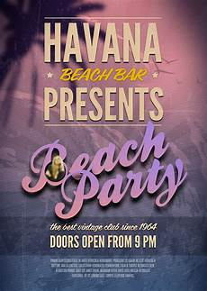 Beach Party Flyer Template Free Beach Party Psd Flyer Template Free Psd Files