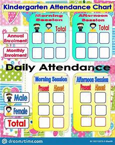 Images Of Attendance Chart Kindergarten Attendance Chart Stock Illustration