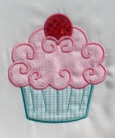 Applique Designer Fancy Cupcake Embroidery Design Machine Applique