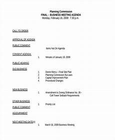 Business Agenda Example Free 9 Business Meeting Agenda Examples Amp Samples In Pdf
