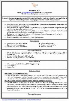 Mechanical Resume Samples For Freshers Over 10000 Cv And Resume Samples With Free Download
