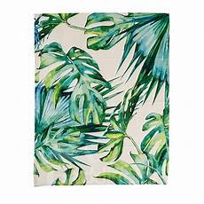 Palm Leaf Light Shade Creative Green Palm Leaves Printed Flat Shaped Roman
