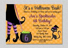 Costume Party Invites Halloween Witch Costume Party Birthday Invitation