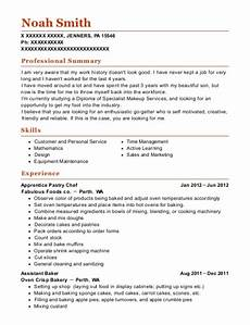 Apprentice Chef Resume Jetair Pt Limited Assistant For My Family Business Resume