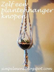 simpelmens zelf een plantenhanger knopen zpaghetti