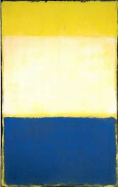 Blue No Yellow No 6 Yellow White Blue Over Yellow On Gray 1954