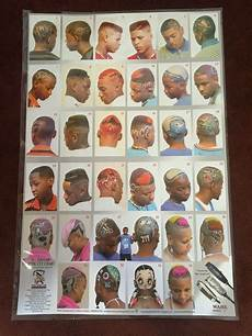 Barber Shop Haircut Styles Chart 24 X 36 Barber Shop Poster Graphic Cut Chart For African
