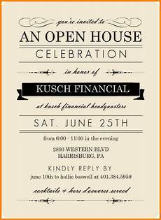 Business Open House Invitation Open House Invite Templates Template Business