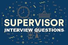 Job Interview Questions For Supervisor Position Supervisor Cover Letter