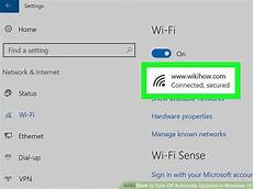 How To Turn Off Automatic Updates Windows 10 4 Ways To Turn Off Automatic Updates In Windows 10 Wikihow